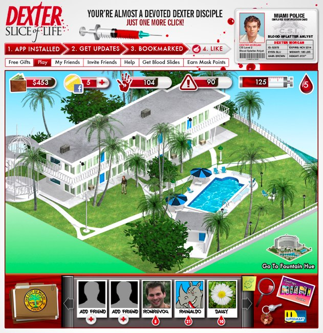 Dexter sur Facebook