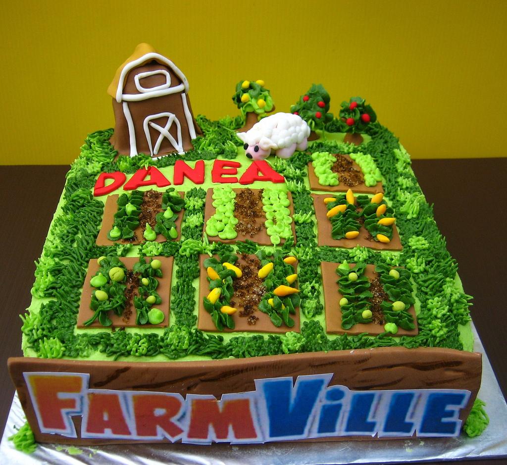 Le gâteau FarmVille