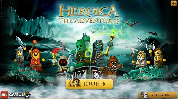 Jeux flash Lego Heroica sur Flibus