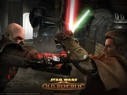 Un combat entre un Sith et un Jedi