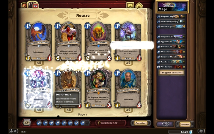 Collection Hearthstone