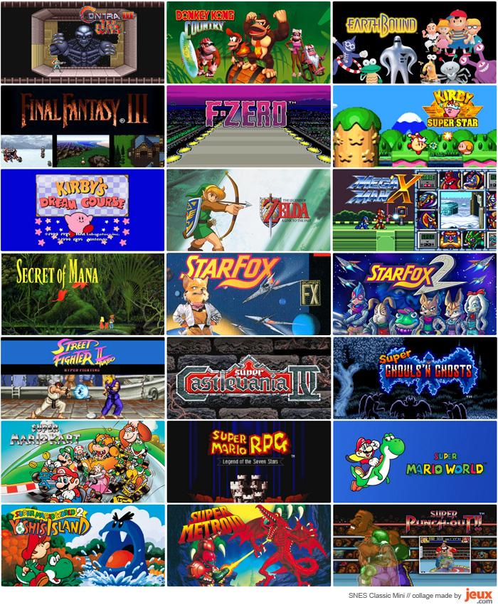 Liste des 21 jeux de la SNES Classic Mini