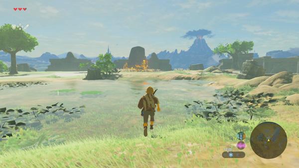 The Legend of Zelda : Breath of the Wild map