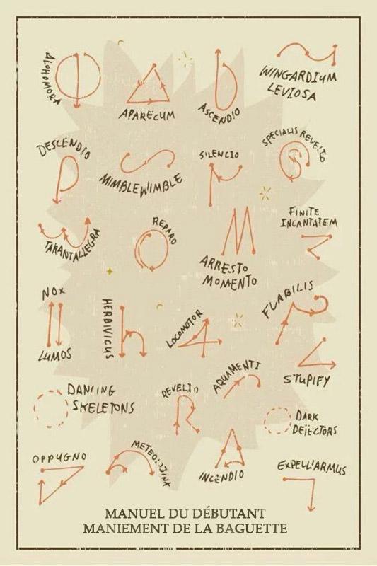 Harry Potter manuel débutant du maniement de la baguette