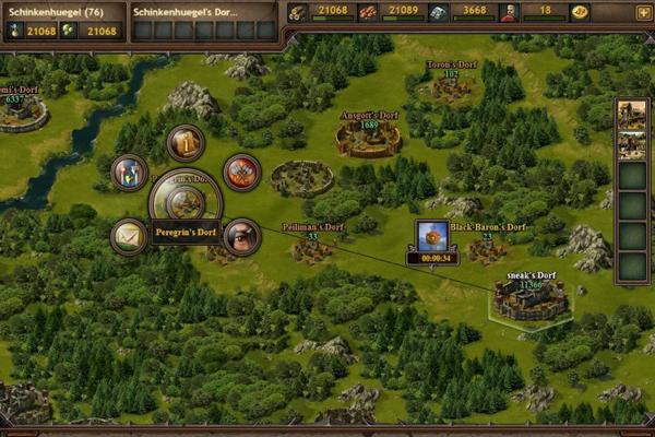Tribal Wars 2 menu