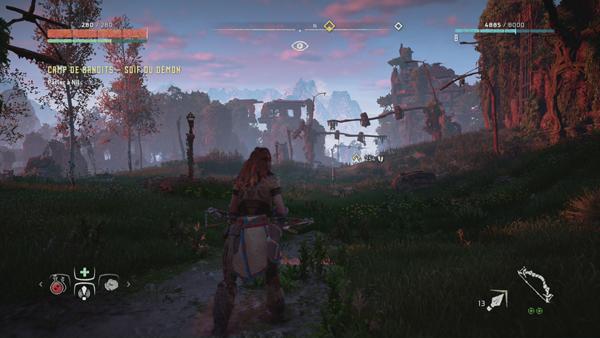 Horizon Zero Dawn camp de bandits