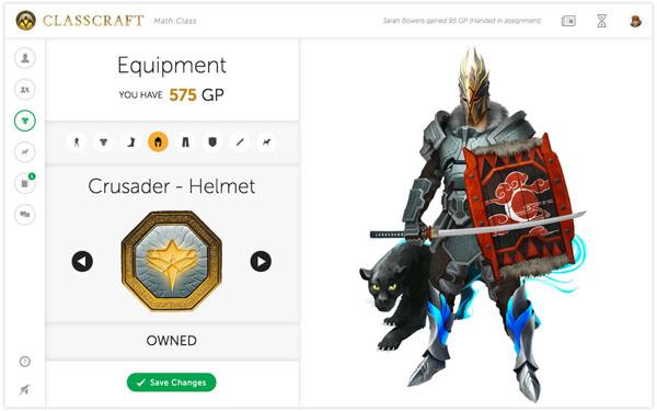 Classcraft Pets and gear