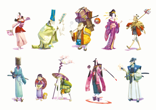 Tokaido personnages