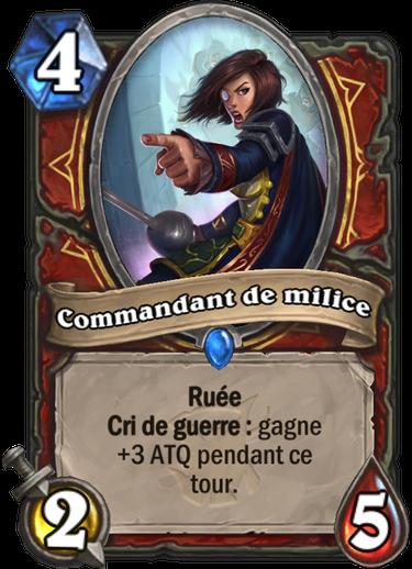 Bois Maudit - Commandant de milice