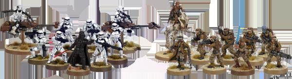 Star Wars Legion figurines peintes