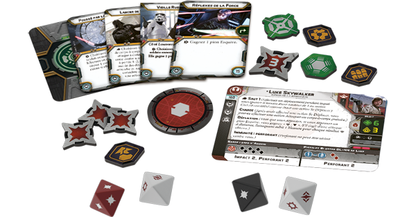 Star Wars Legion pions et cartes