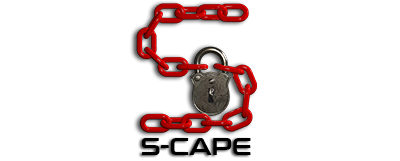 s-cape game logo