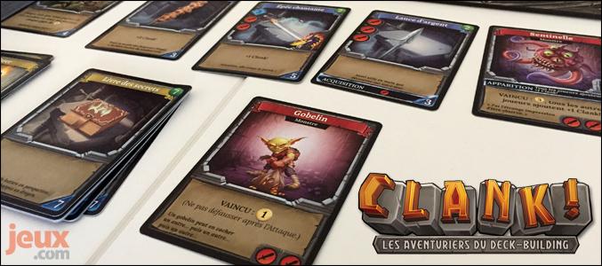 Clank! cartes en partie