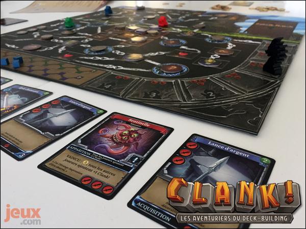 Clank! plateau de jeu en partie
