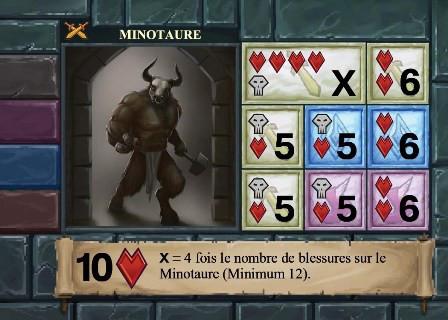 One Deck Dungeon Minotaure