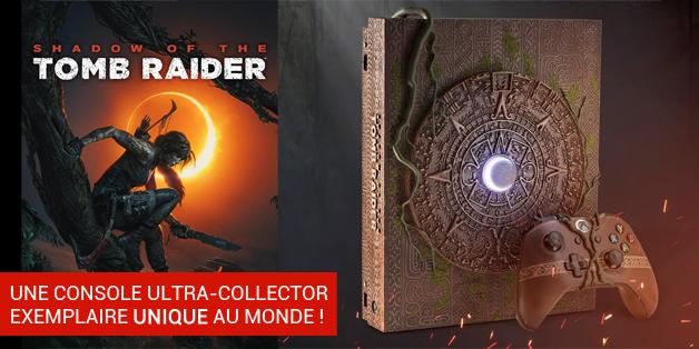 Xbox One X Tomb Raider - console unique au monde !