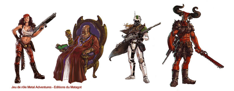 Metal Adventures personnages