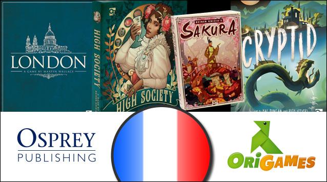 Partenariat Osprey Games - Localisation FR Origames
